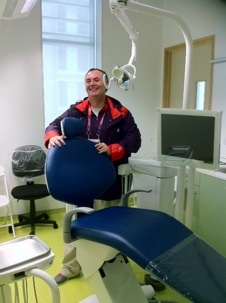 Tony Kilcoyne working at Olympic Village London 2012