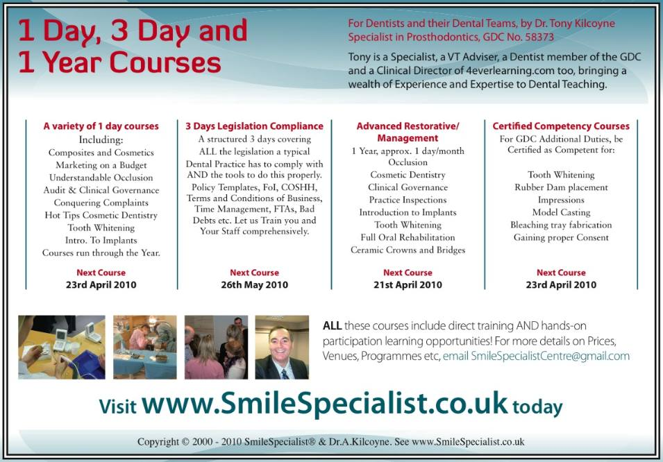 SmileSpecialist Dental Courses for Dental Teams