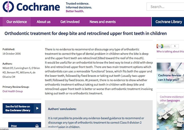 Highest Cochrane review says NO treatment evidently as good!