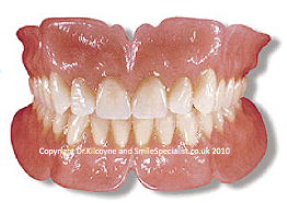 Full Complete Dentures just rest on Gums