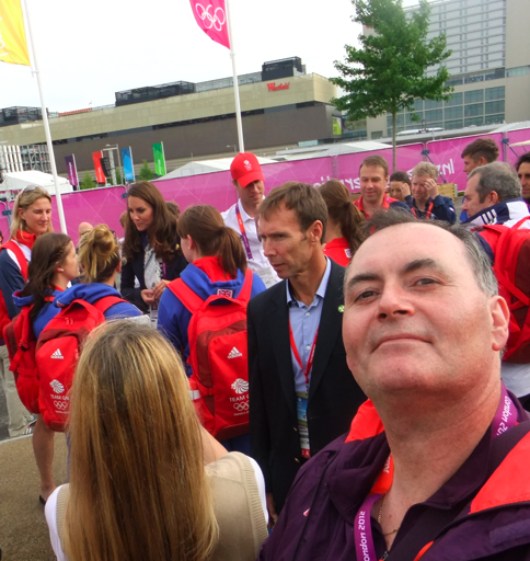 Tony Kilcoyne present during a surprise royal visit at the Olympic Village