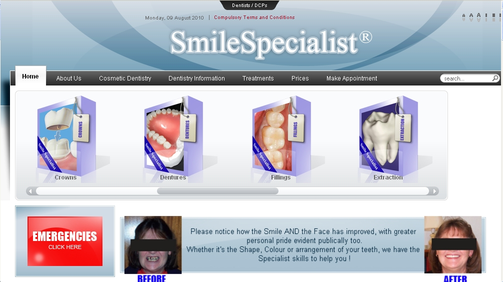 SmileSpecialist.co.uk Lots of Cosmetic and Implant Dentistry free Info.