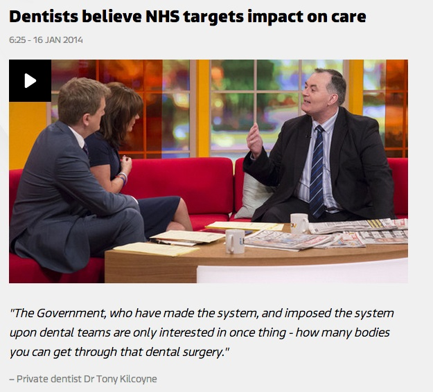 Dr.Kilcoyne on ITV Breakfast News with Lorraine and Aled about NHS concerns 2014